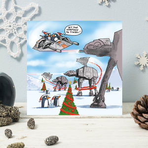 Hoth Penguins Christmas Cards