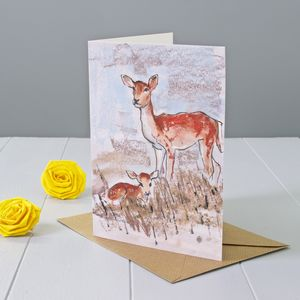 Deer Art Greeting Card - birthday cards