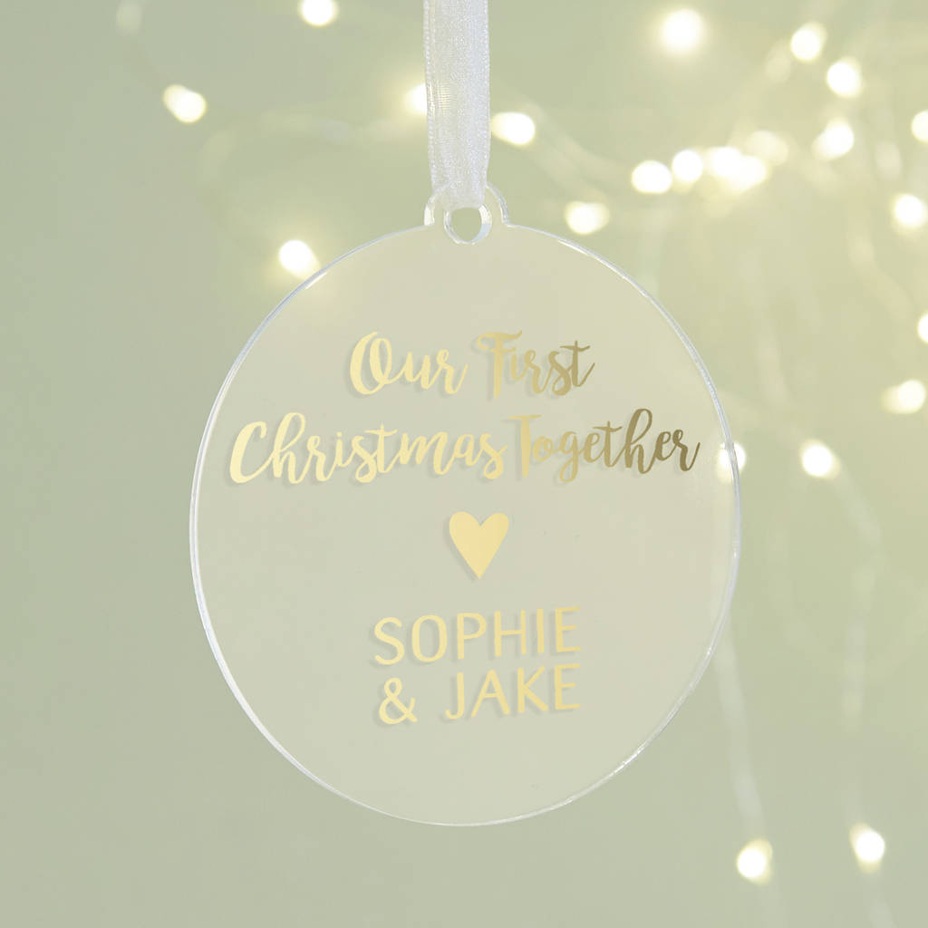 First Christmas Together Personalised Foil Decoration