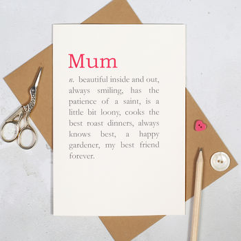 Reasons You're Wonderful Personalised Mother's Day Card