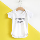 Littlest Family Member, Personalised Baby Grow /T Shirt