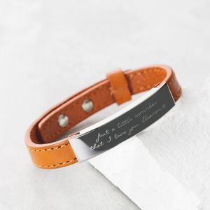 Men's Personalised Adjustable Tan Bracelet - gifts for him