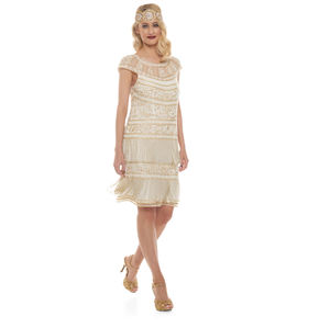 Vintage Inspired Clara Fringe Dress - dresses