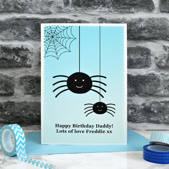 'Spiders' Personalised Birthday Card From Children