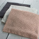 Rose Gold Raindrops Print Scarf