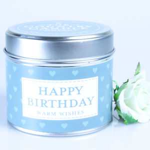 Sentiment Messages Vanilla Scented Tin Candle - outdoor lighting & candles