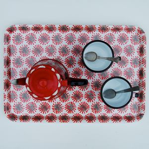 Red Dandelion Tray - trays