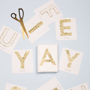 Gold Glitter Letter And Number Stickers - christmas stickers