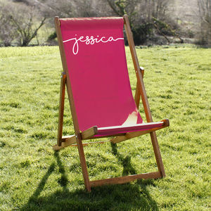 Personalised Adult Deckchair - garden furniture