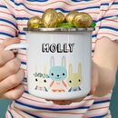 Cute Bunnies Easter Enamel Mug