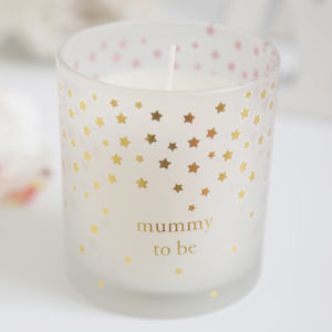 Gold And White Mummy To Be Candle