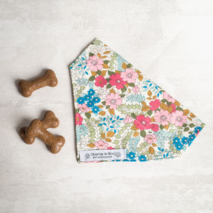 Pink And Blue Dog Bandana For Girls And Boys