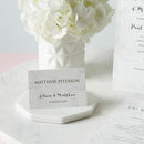 Marble Wedding Place Card