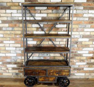 Industrial Trolley Shelf - bookcases
