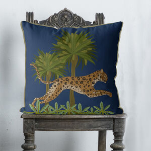 Leaping Leopard, Animalia Cushion, Multi Colours Avail