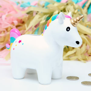 Ceramic Unicorn Money Box Bank