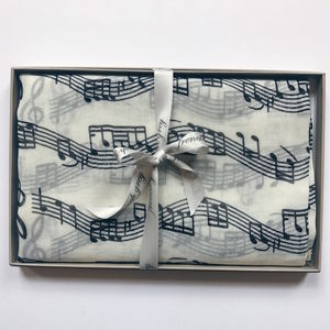 Music Print Scarf - summer sale