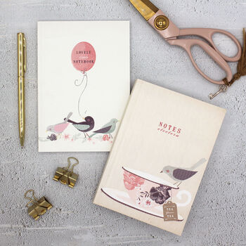 Set Of Two Sweet Bird Pocket Notebooks