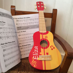 Red Personalised Ukulele For Children - toys & games
