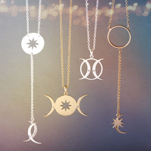 Triple Moon Goddess Necklace Collection - jewellery gifts for friends