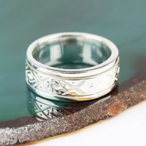 Sterling Silver Aztec Spinning Ring