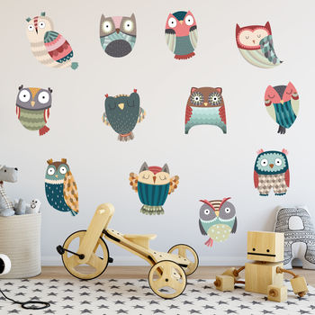 Friendly Owl Wall Stickers