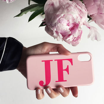 Nude And Hot Pink Personalised Phone Case