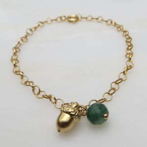 Baby Acorn And Birthstone Bracelet - jewellery gifts for children