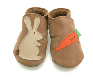 Boys Or Girls Soft Leather Baby Shoes Rabbit And Carrot - shoes & footwear