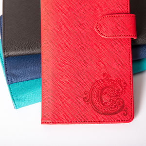Cross Grain Travel Wallet With Initial More Colours - summer sale