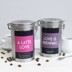 Personalised Valentines Day Coffee Gift Tin - gifts for her