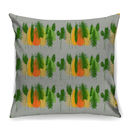 Dusk Feather Buds Designer Cushion + Waterproof