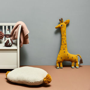 Cotton Giraffe Cushion - bedroom