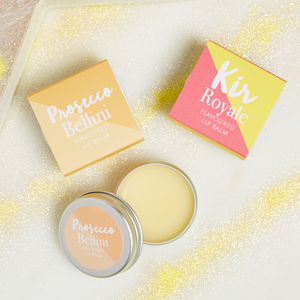 Prosecco And Champagne Cocktail Flavour Lip Balm - lip balms & glosses