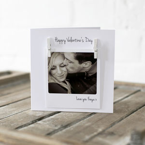 Personalised Your Photo Valentines Couples Card - anniversary cards