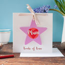 star gift that can be personalised on a personalised card for a mum