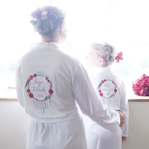 Personalised Winter Wedding Dressing Gown