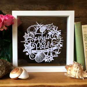 Personalised Seaside Beach First Anniversary Gift