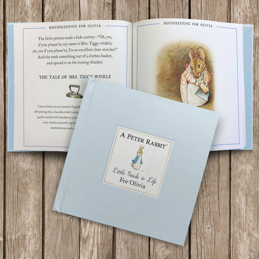 A Collection Of Three Personalised Peter Rabbit