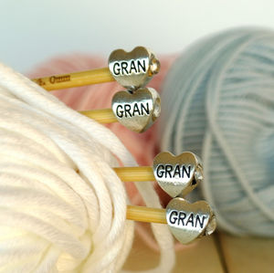 Gran Knitting Needles Two Pair Gift Set - creative kits & experiences
