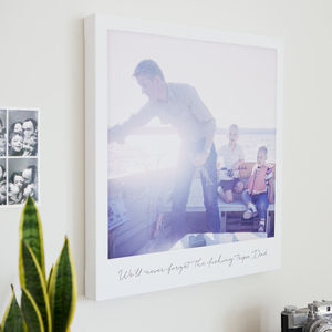 Personalised Giant Retro Style Photo Canvas - gifts for families