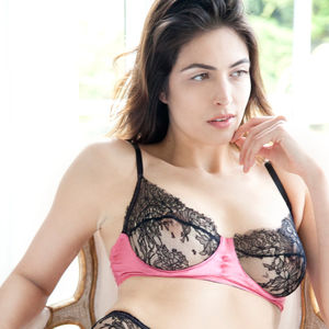 Amara Luxury Silk And Lace Wire Bra