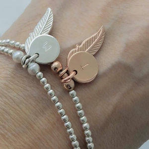 Personalised Feather Charm Bracelet Gift For Her - gifts for her