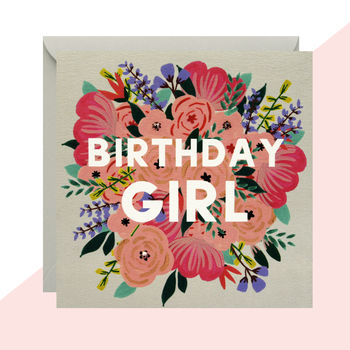 'Birthday Girl' Floral Card