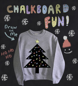 Xmas Tree Chalkboard Sweatshirt - children's christmas clothing