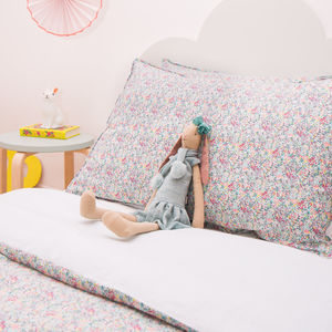 Liberty Print Duvet Cover Emma And Georgina - bedroom