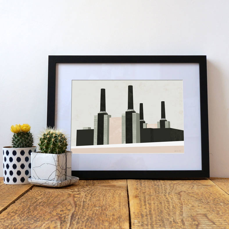 Battersea Power Station Geometric Abstract Art Print