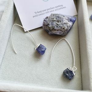 Sapphire September Birthstone Dropper Earrings