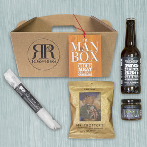 Christmas Cider Man Box - christmas food & drink