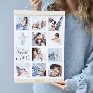 Personalised Baby Magnetic Hanging Photo Print Frame - picture frames